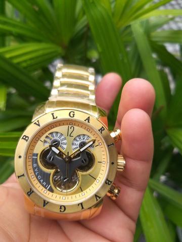 Relógio bvlgari automático, a prova d'água, 100%