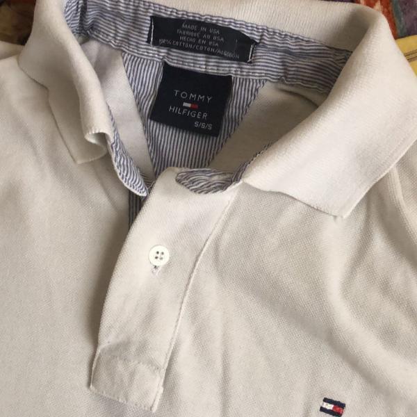 Camisa polo branca tommy