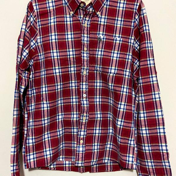 camisa xadrez abercrombie & fitch