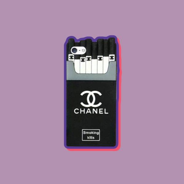 Capinha de silicone 3d smoking kills chanel p/ iphone 5s e