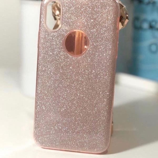 Case iphone x de glitter