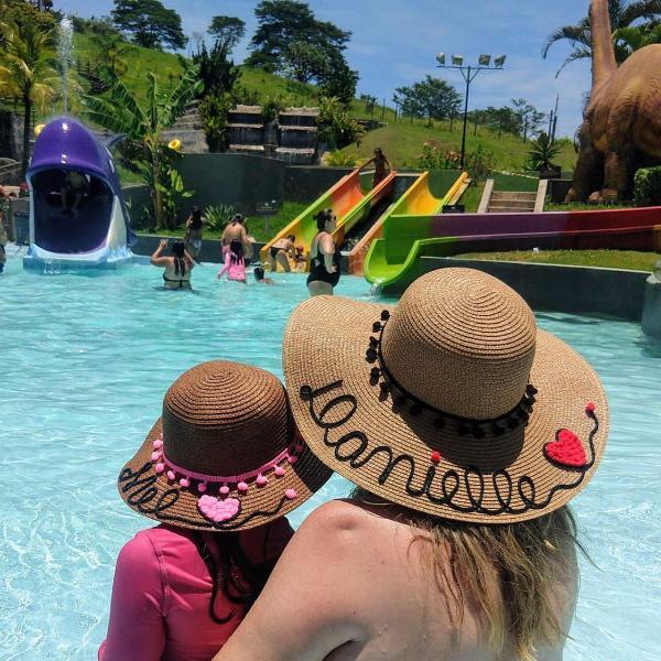 Chapéu personalizado kit mãe e filha(adulto + infantil)