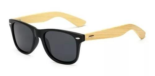 Culos de sol masculino madeira bambu uv400 promocao