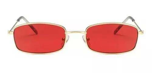 Culos sol quadrado retangular vermelho amarelo hype retro
