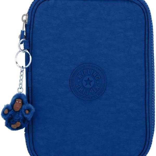 Estojo escolar kipling 100 pens azul royal