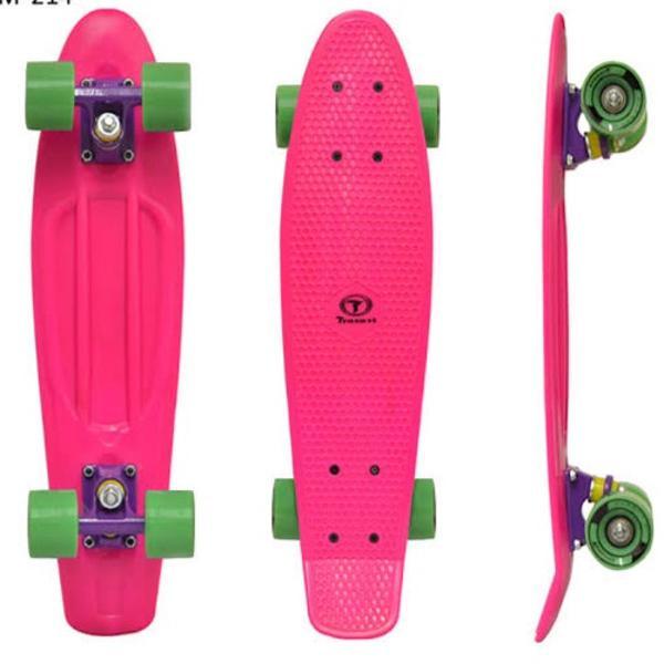 Mini long board traxart rosa