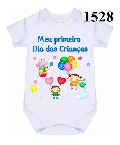 1 body bebê personalizado meu primeiro dia das crianças