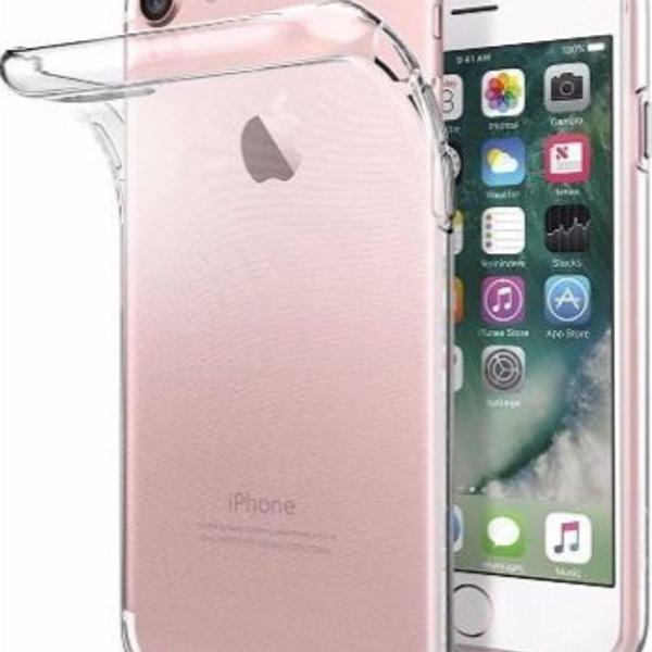 2 capas silicone iphone 8 plus - transparente
