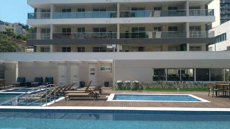 Botafogo, apartamento 2qts, 70m2, suíte, lazer, vaga,