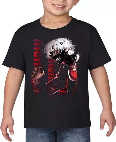 Camiseta infantil anime tokyo ghoul crianças personalizadas