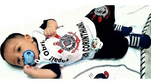 Conjuntinho para criança bebê do corinthians promoção