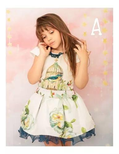 Conjunto infantil festa menina crianças roupa infantil