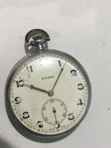 Cyma rrlogio de bolso a corda antigo original(k)