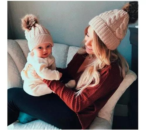 Gorro touca bebê criança unissex croche pompom inverno