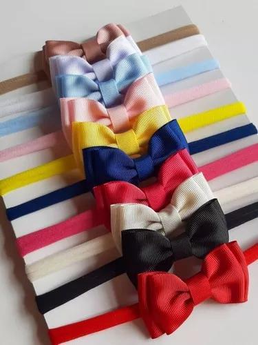 Kit 10 faixas tiara laços cabelo bebê infantil criança