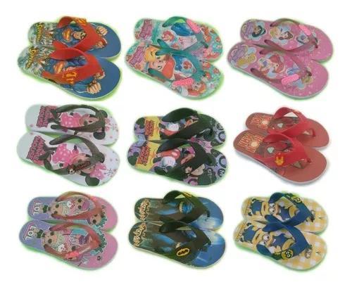 Kit 20 pares sandália infantil chinelo crianças atacado