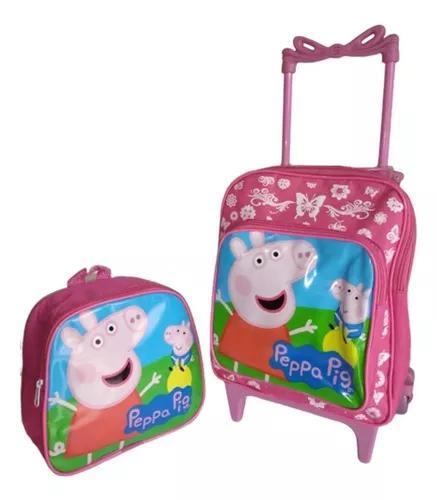 Kit mochila com lancheira crianças de 3 a 5 anos pep pig