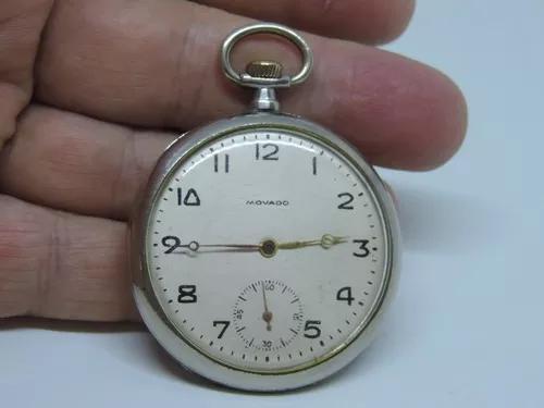 Lindo e antigo relógio de bolso suiço marca movado