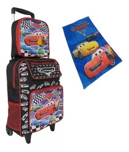 Mochila bolsa escolar crianças masculina carros kit barato