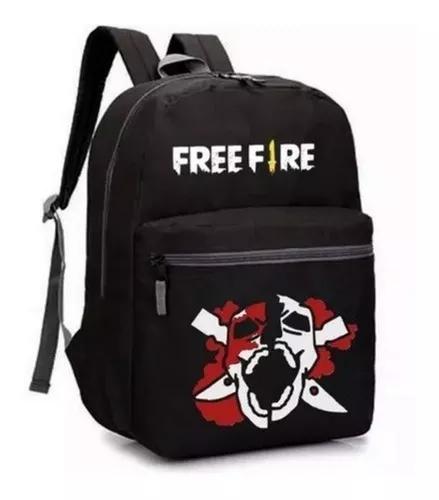 Mochila bolsa free fire para crianças e adulto(a) unissex