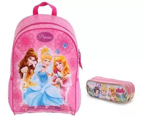 Mochila estojo princesas costa escola infantil dermiwil g