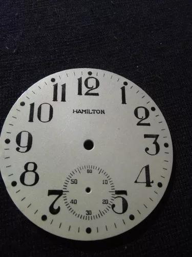 Relógio bolso antigo mostrador hamilton d