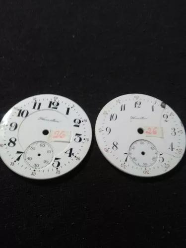 Relógio bolso antigo mostrador hamilton e