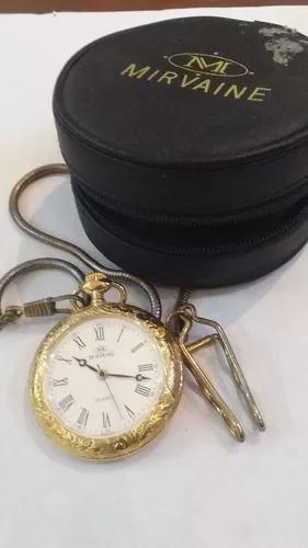 Relógio bolso mirvaine quartz, novo, s
