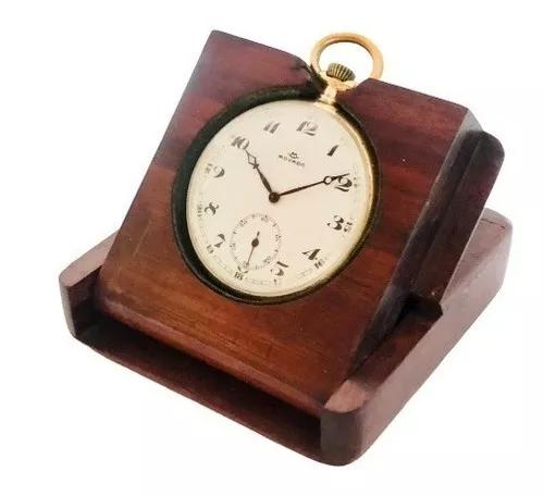 Relógio bolso suíço movado ouro 18k cal 800 estojo