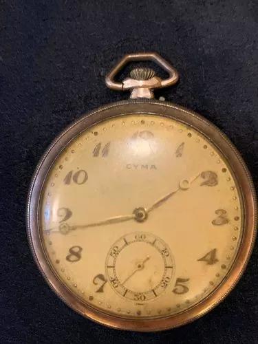 Relógio de bolso cyma antigo art deco coleção raro