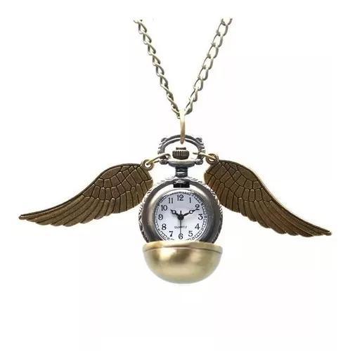Relógio de bolso harry potter pomo de ouro novo
