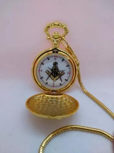 Relógio de bolso personalizado maçonaria maçon -