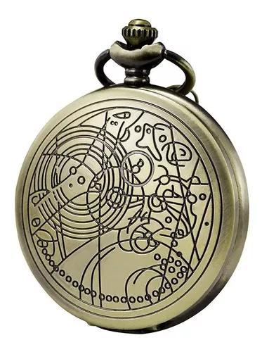 Relógio de bolso retro - doctor who - pronta entrega