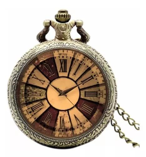 Relógio de bolso vintage colorido números romanos