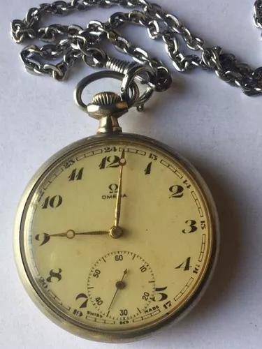 Relógio De Bolso Ômega 48mm Perfeito -frete Grátis