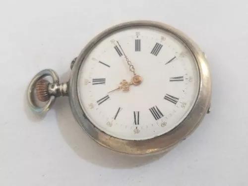 Relogio bolso prata macica raro coleção promocao r$ 299