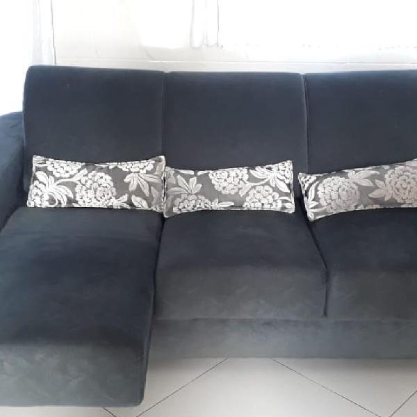 Sofa suede retrátil