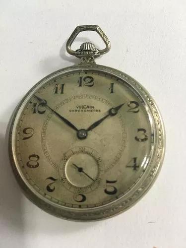 Vulcain chronometre relogio de bolso. caixa trabalhada(k)