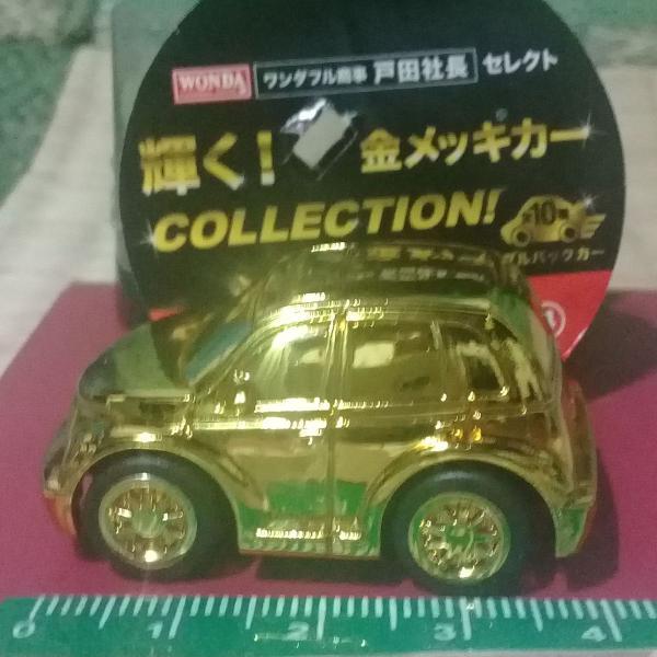Chrysler - pt cruiser 2009 miniatura carrinho dourada
