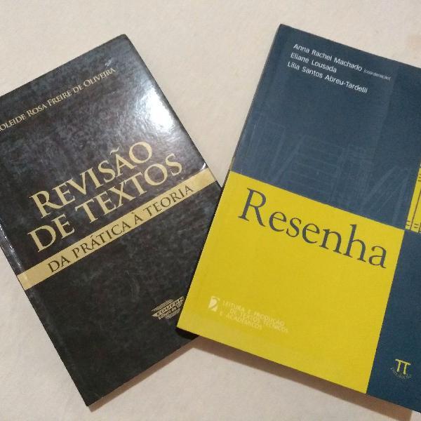 Combo libros de produção e revisão textual