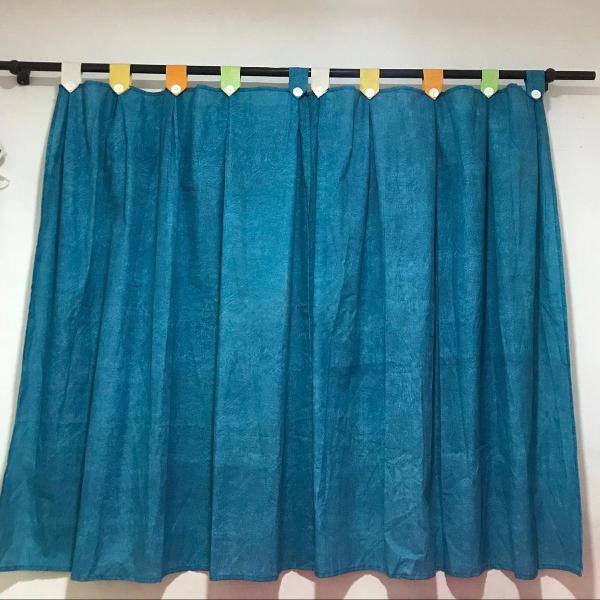 Cortina azul 2 partes de 1,00x1,60