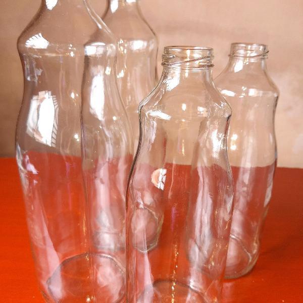 Kit garrafas de vidro