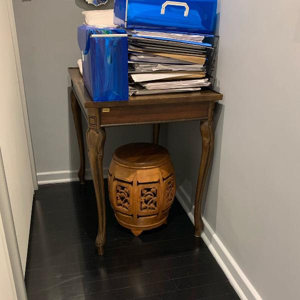 Mesa lateral madeira, sierra, 0,86x0,60