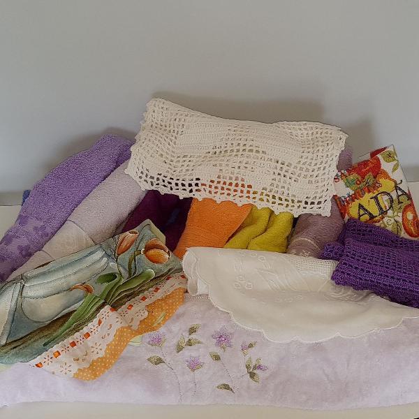 Toalhas de banho+ toalhas de rosto+ panos de prato+ centros