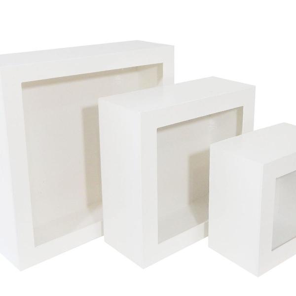 Trio nicho quadrado mdf branco