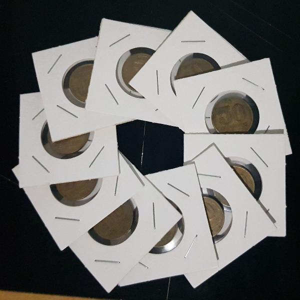 Moedas - lote com 32 moedas