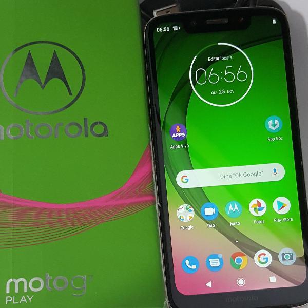 """Moto g7 play 32gb 2gb ram dual chip tela 5.7"""" original e ok"""