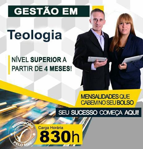 Promoção especial. curso superior em gestão em teologia.