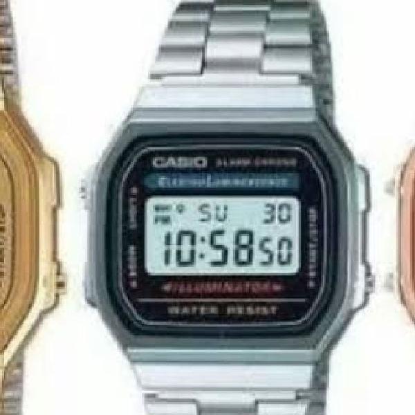 Relógio casio unixex retrô super promoção