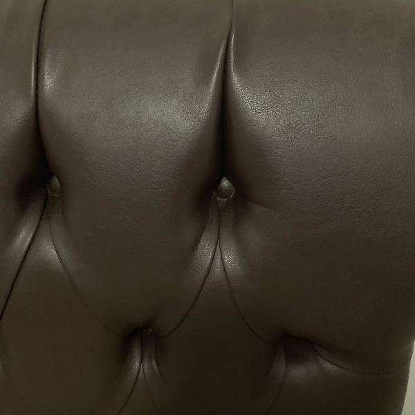 Cabeceira de couro matelassê